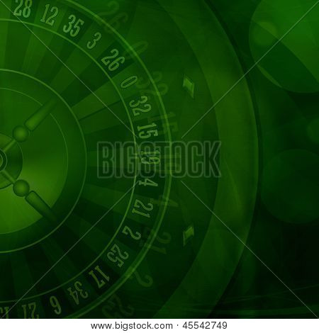 Casino Roulette Green Background