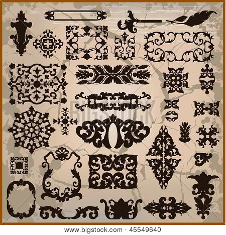 Ornamental Pattern With Brown Border