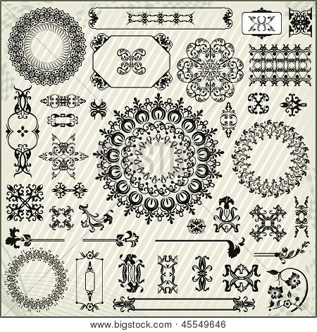 Ornamental Pattern With Linear Background