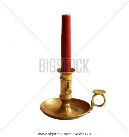 Antique Brass Candle Holder