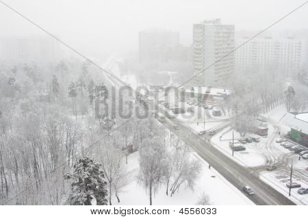 City,snowfall, One