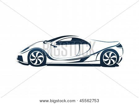 Speedy racing sport car