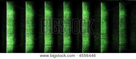 Green Black Striped Matrix Style Background Texture