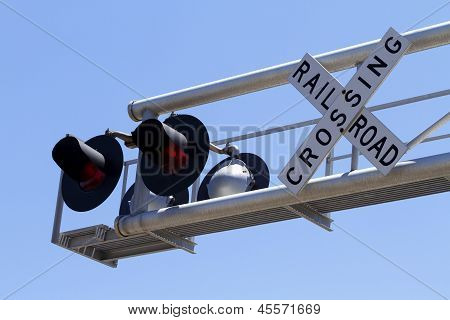 Overhead Railroad Signal And Sign Cantilever
