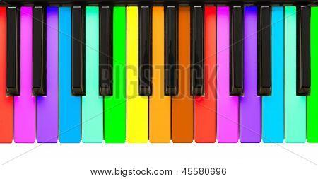 Rainbow Piano Keys