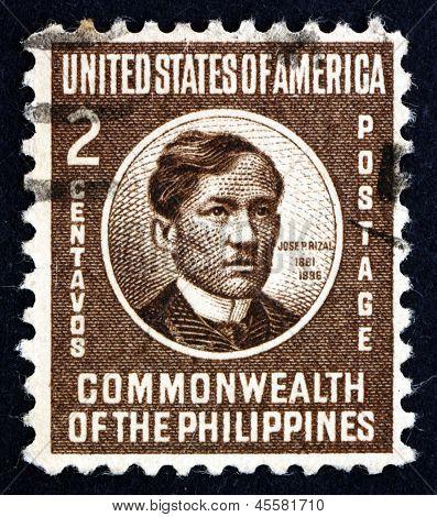 Postage Stamp Philippines 1946 Jose Rizal, National Hero
