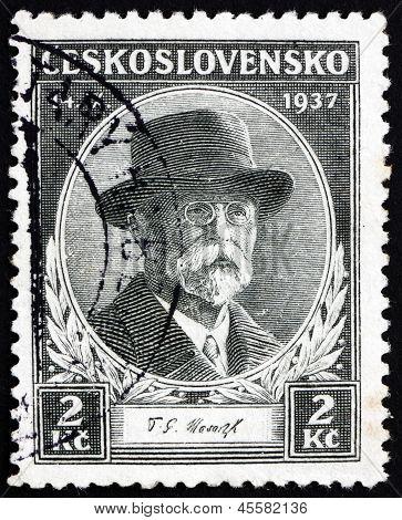 Postage Stamp Czechoslovakia 1937 Tomas Garrigue Masaryk