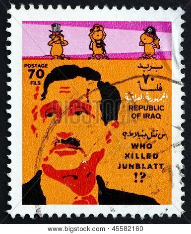 Postage Stamp Iraq 1977 Kamal Junblatt, Druze Leader