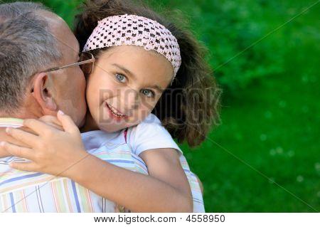 Großvater und kid