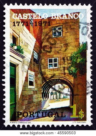 Postage Stamp Portugal 1971 Town Gate, Castelo Branco