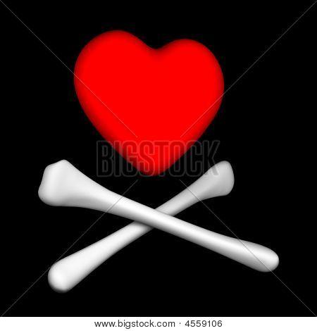 Crossbones Heart
