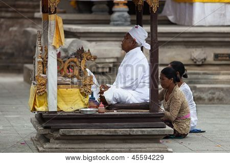 Balinese Ceremony In The Temple