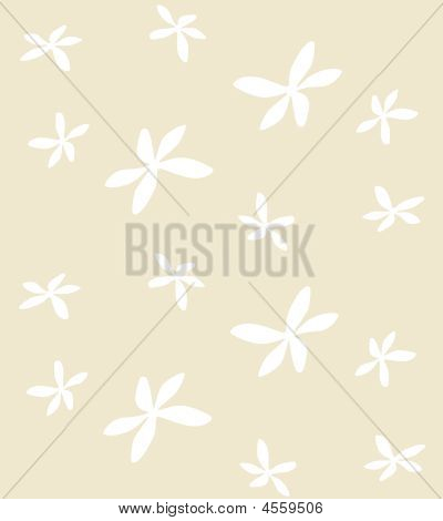 Wallpaper Pattern Of White Blossom Flowers