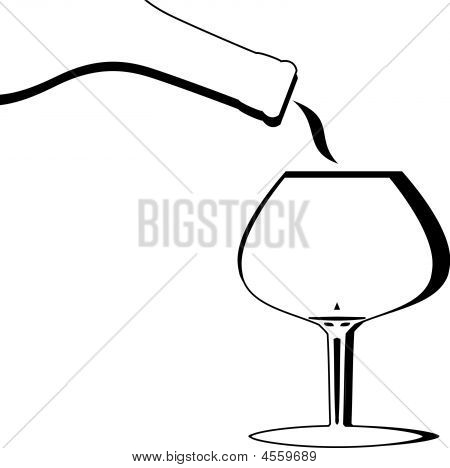 Abstract Brandy Snifter