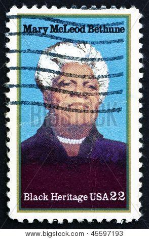 Postage Stamp Usa 1985 Mary Mcleod Bethune, Educator