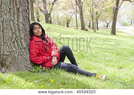 Teenage girl in putdoors