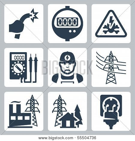 Vector Power Industry Icons Set