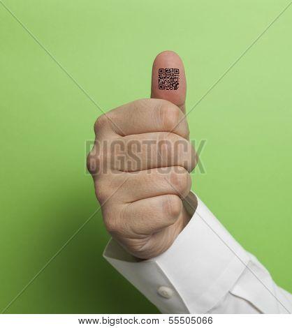 Qr Code On Thumb