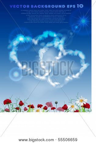 Cloud collection Two hearts in love