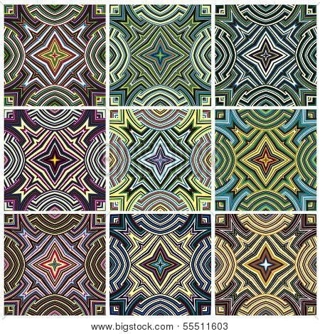Zimbabwe textile pattern set