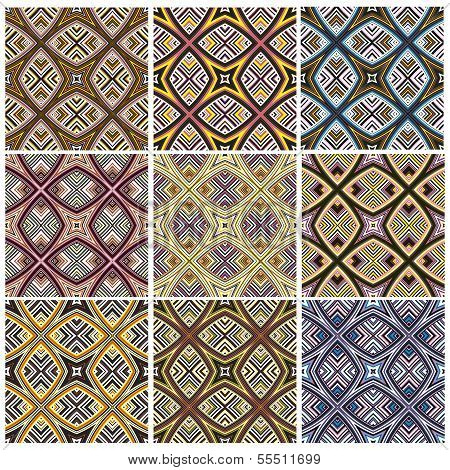 Modern seamless textile texture from southern Africa with artistic motifs poster