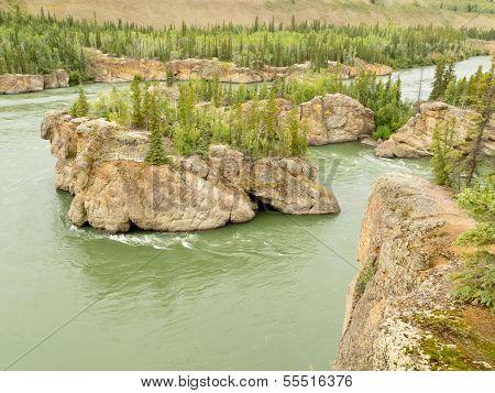 Five Finger Rapids Rocks Yukon River Yt Canada