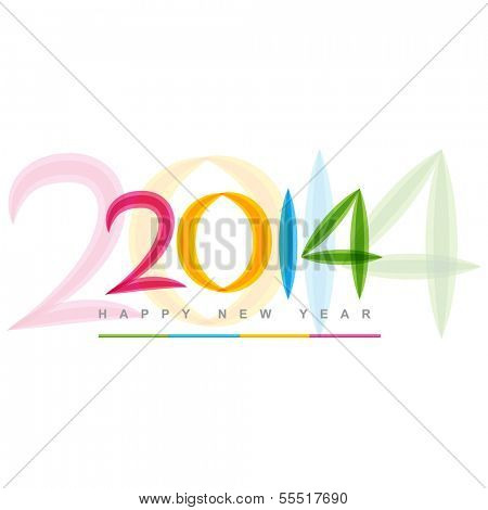 colorful happy new year 2014 design