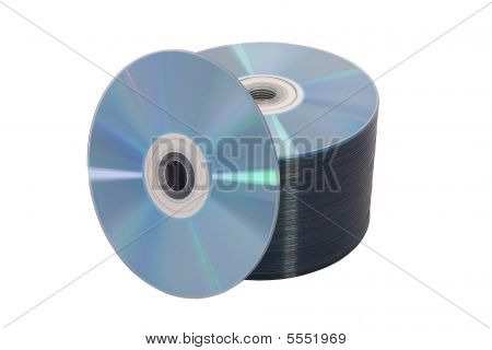 Stack Of Disks On White