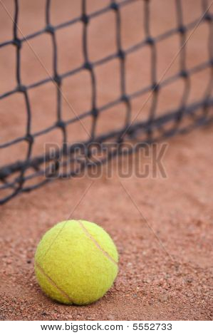 Tennis Ball At The Court