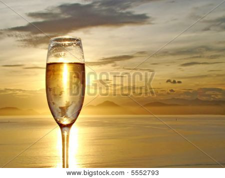 Champagne Glass Background