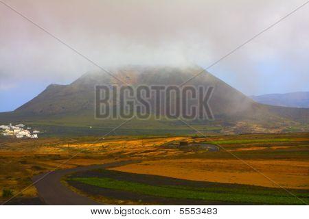 Northern part of the island Mirador del Rio Lanzarote Canary Islands poster