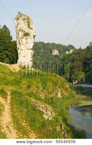 Rock Called Maczuga Herkulesa In National Ojcow Park, Poland