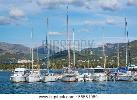 Small Boats Moored In Port D'andratx