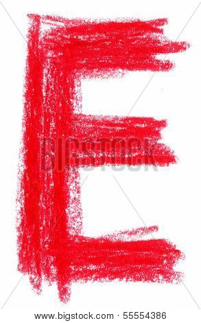 Alphabet pastel on the white background isolated poster