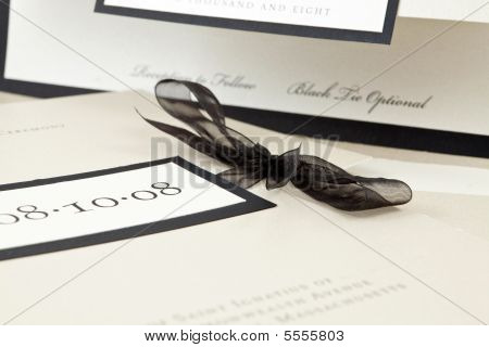 Champagne Colored Wedding Invitation, Shallow Depth Of Field