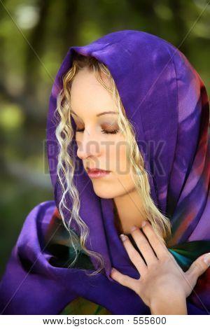 Pretty Young Blonde Woman Portrait