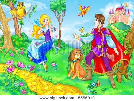 Prince And Fairy Tale Heroine