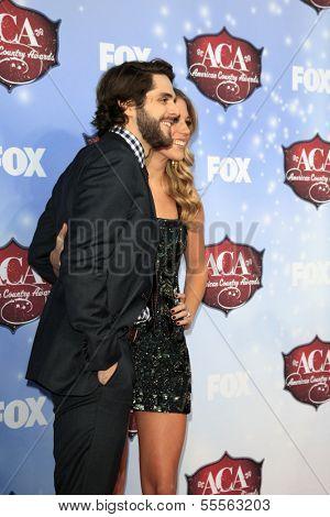 LAS VEGAS - DEC 10:  Thomas Rhett, Lauren Akins at the 2013 American Country Awards at Mandalay Bay Events Center on December 10, 2013 in Las Vegas, NV