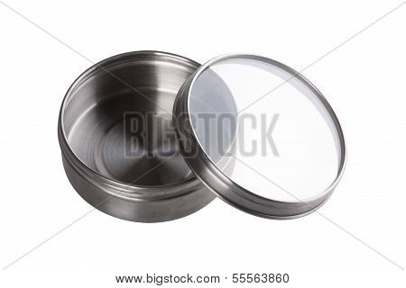 Steel Box Isolated With Clipping Path