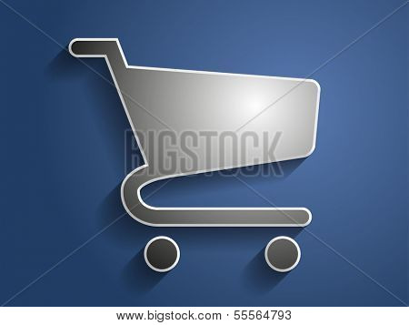 3d Vector illustration of shopping chart icon