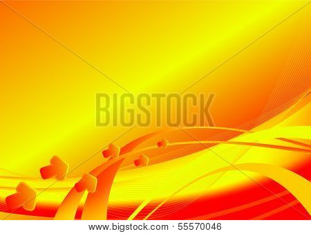 Abstract Background-orange