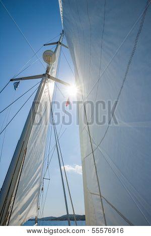 Sailing in Lefkas island Greece