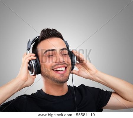 Man enjoying good music