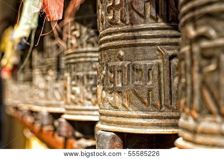 Boudhanath Tempelglocken im Kathmandu-Tal