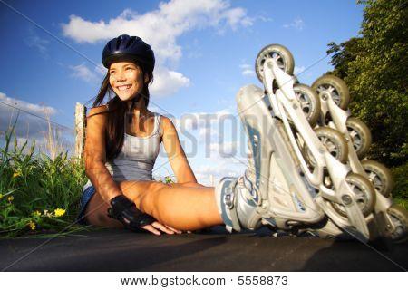 Woman On Inline Skates
