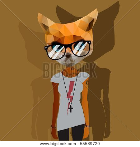 Cute fashion Hipster Animal