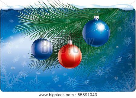 Christmas illustration for banner or mailing