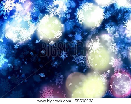 Beautiful Delicate Xmas Snowflakes Background