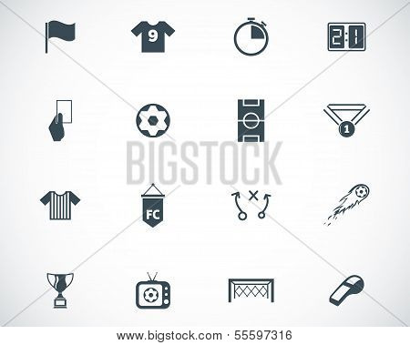 Vector black  soccer  icons set