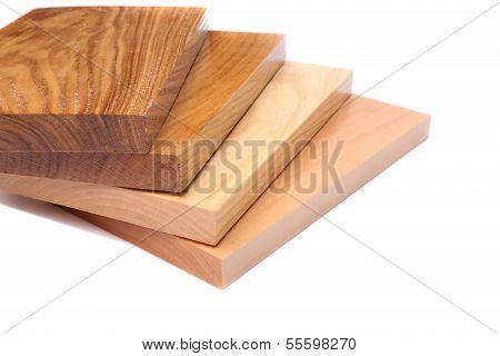 Four boards (acacia, oak, elm, lime)